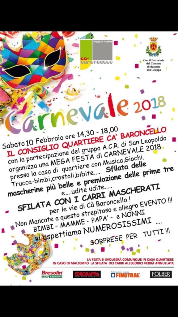 Carnevale 2018 Ca Baroncello